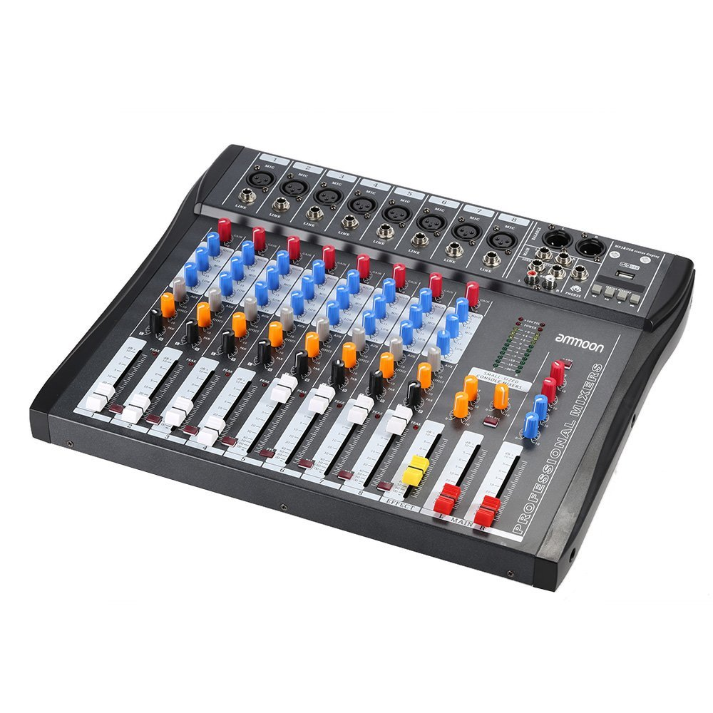 CT80S-USB 8 Channel Audio Mixing Console